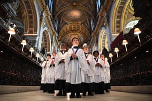 St Paul's Cathedral choristers prepare for their first livestreamed Christmas concert in London, England