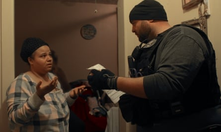 'You're intimidated until you give up, or take whatever you can get' ... a still from Immigration Nation
