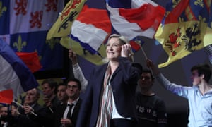 Marine Le Pen, leader of the Front National, at a campaign rally in Lille for this Sunday's regional elections.