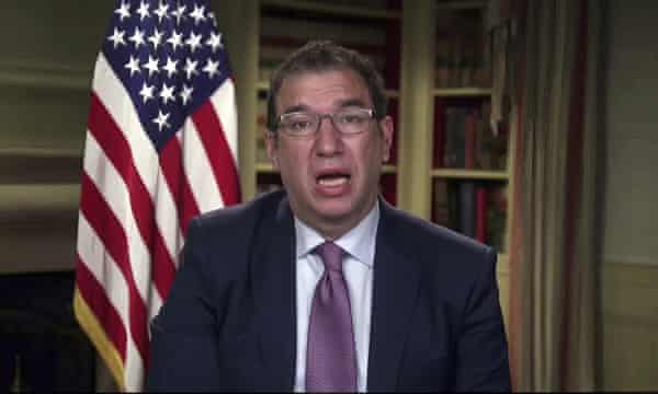 Andy Slavitt speaks during a White House briefing on the Biden administration's response to the Covid-19.