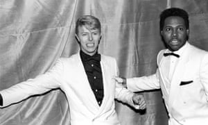 David Bowie with Nile Rodgers at the Savoy in New York, 1983.