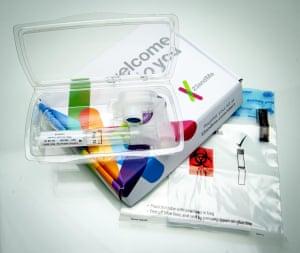 One of 23andMe's saliva sample kits.