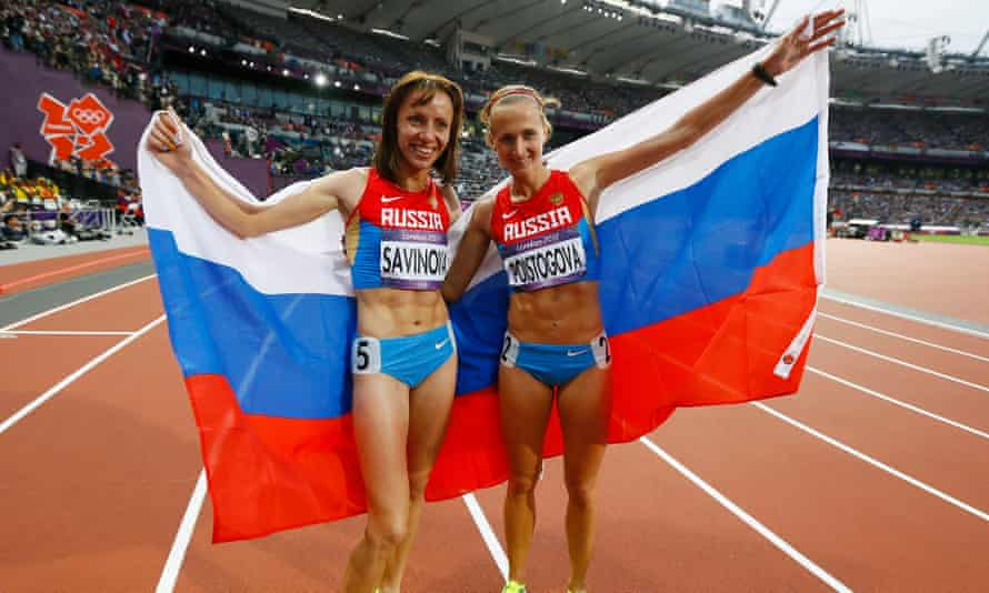 The film features Russian athlete Ekaterina Poistogova (right), who won bronze in the 800m at London 2012, suggesting her ongoing suspension contributed to her recent divorce.