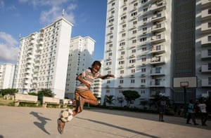 Kilamba, a new Chinese-built housing development in the south of Luanda