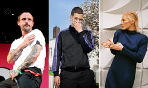 Political and pessimistic ... (from left) Joe Talbot of Idles, Slowthai and Cate Le Bon.