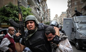 Security forces interfere as Egyptians gather to protest the coup against Mohamed Morsi.
