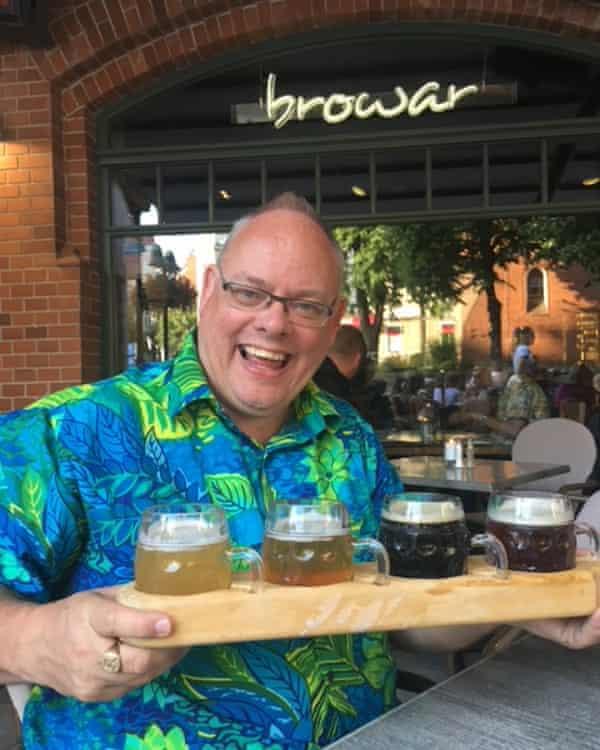 'He wore Hawaiian shirts everywhere' … Bob Pape In Budapest in 2018.