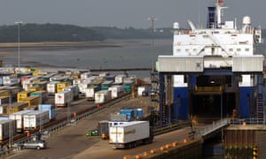 The port of Harwich in Essex
