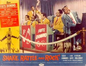 A poster for the 1956 film Shake, Rattle and Rock!, which featured songs by Domino