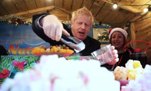 Boris Johnson at a Christmas market