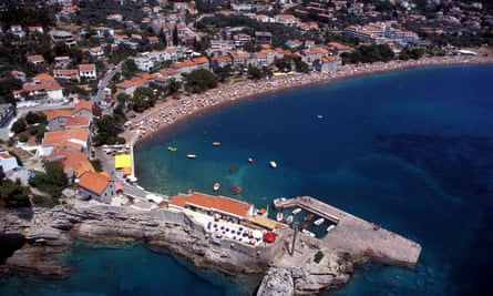 Petrovac on the Adriatic coast in Montenegro