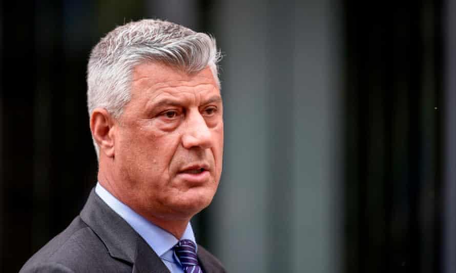 Kosovo's president, Hashim Thaçi