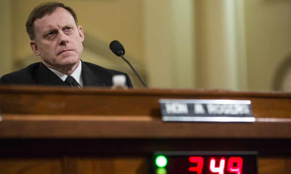 Michael Rogers testifies during a House hearing concerning Russian meddling in the 2016 US election on Monday in Washington DC.