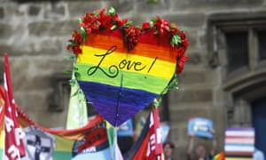 A sign is seen at a rally in support for marriage equality in Sydney.