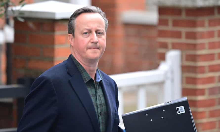 David Cameron leaves his London home to give evidence to a select committee on Greensill, 13 May 2021.