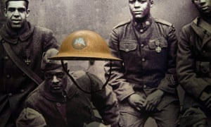 A helmet from the first world war Harlem Hellfighters on display at the new Smithsonian museum in Washington, which opens 24 September.