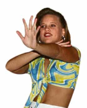 Dancer performing the Macarena