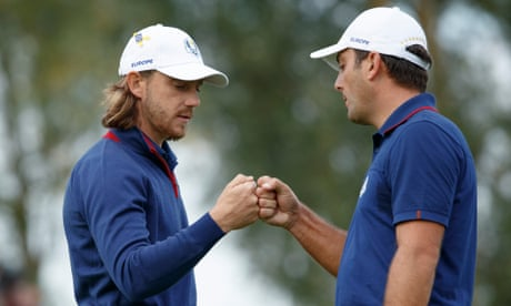 Ryder Cup 2018  Europe surge 5-3 up on USA after awesome foursomes ... 99d06280ab1c