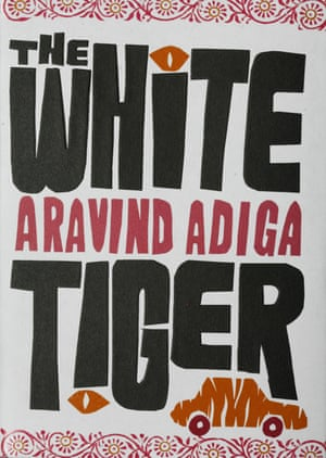 Book cover: The White Tiger by Aravind Adiga. Man Booker prize 2008 winner