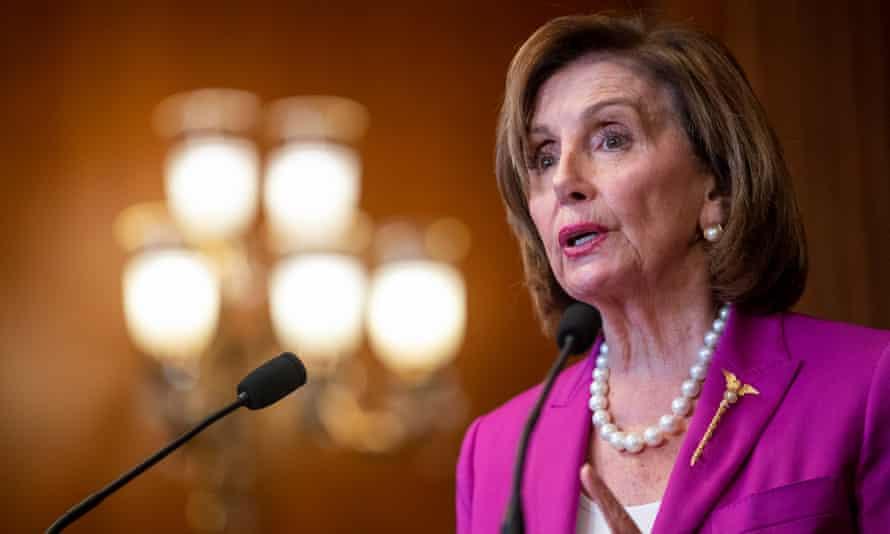 Nancy Pelosi in Washington DC on 21 July.