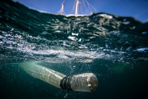 Greenpeace collects samples of plastics which will be taken for analysis to Exeter University.