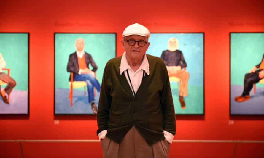 'Letting loose Hockney's raw instinct for colour': David Hockney RA: 82 Portraits and 1 Still-life.