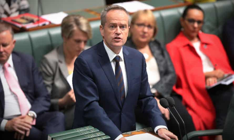 Bill Shorten in parliament on Monday. The opposition leader has promised Labor would introduce 10 days of paid domestic violence leave for all employees.