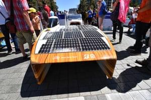 The Nuna 9 solar car won the solar race.