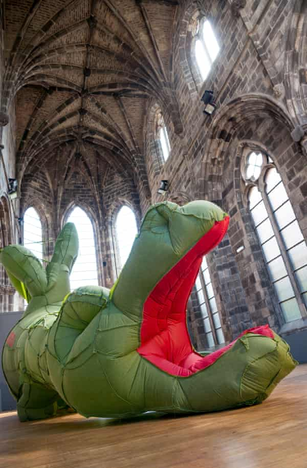 The Dragon of Profit and Private Ownership by Neil Bromwich and Zoë Walker at Trinity Apse.
