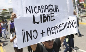 Nicaragua protester sign