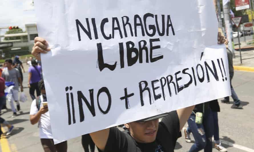 Nicaragua protester sign