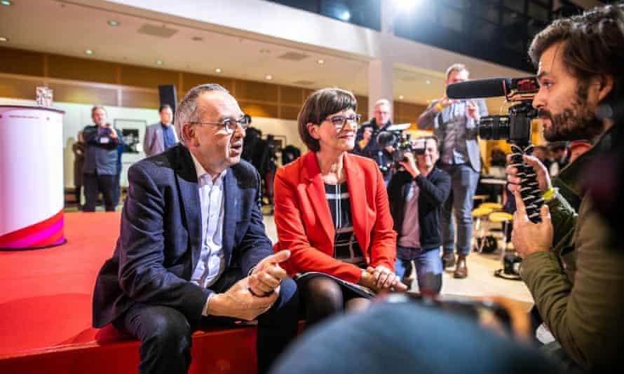 Norbert Walter-Borjans and Saskia Esken