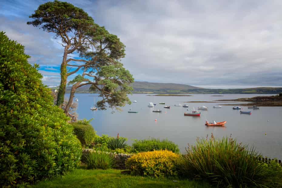 View from the gardens of The Tin Pub on the Sheep's Head peninsula, County Cork