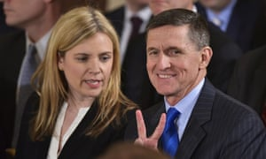 22 January A carefree Flynn awaits the swearing-in of White House staff. Two days later he was interviewed by the FBI and the responses he gave ultimately led to him pleading guilty to making 'materially false, fictitious, and fraudulent statements and representations.