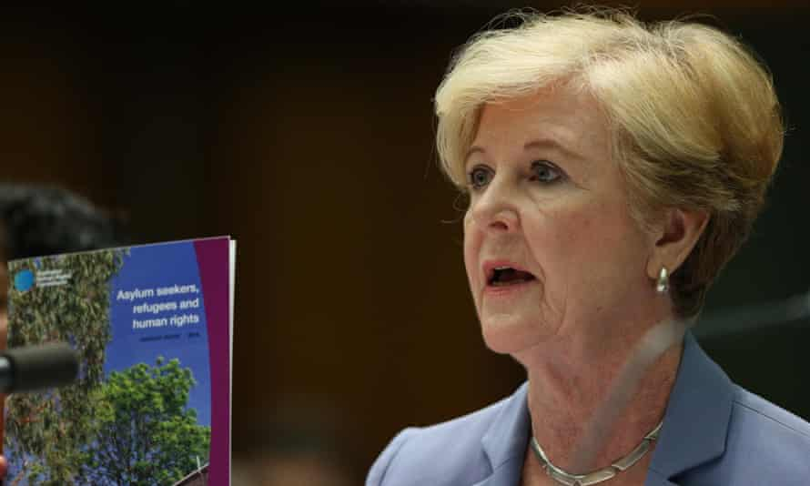 The president of the human rights commission, Gillian Triggs, gives evidence before the legal and constitutional affairs legislation committee on Tuesday.
