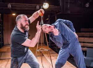 Brendan Cowell and Billy Howle in Life of Galileo at the Young Vic, London