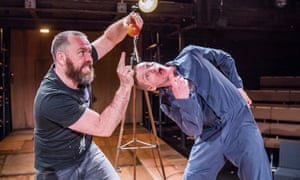 Brendan Cowell as Galileo and Billy Howle as Andrea in Life of Galileo