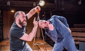 brendan cowell and billy howle in life of galileo at the young vic
