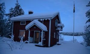 The cabin belonging to Carl Beech in Mjölan, Sweden