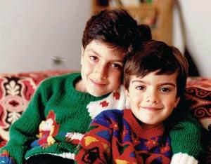 Sam Dastyari with his sister Az as children
