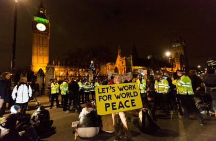 Stop the War supporters protesting against bombing in Syria earlier this month