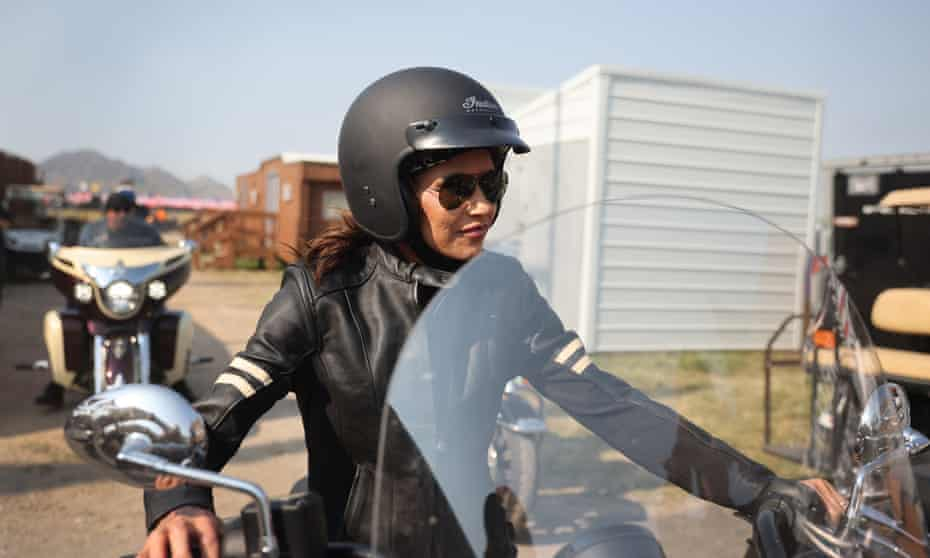 Kristi Noem, the governor of South Dakota, attends the Sturgis Motorcycle Rally – where no masks or vaccines were required – earlier this month. The previous year's event was associated with a surge in Covid cases.
