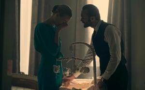 Yvonne Strahovski and Joseph Fiennes in The Handmaid's Tale