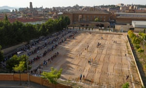 Casting for Games of Thrones season six in Tudela. Navarra. Spain