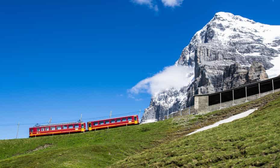 A train on Switzerland's Jungfraubahn.