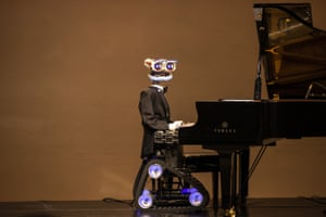 Milan, Italy. The online show Guess who I Play With Tonight with the robot TeoTronico