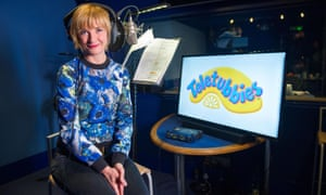 Jane Horrocks during the voice recording for Teletubbies