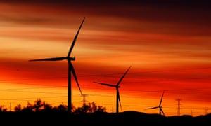 Jeffreys Bay Wind Farm in South Africa