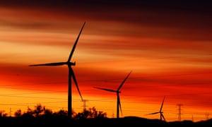 Jeffrey's Bay wind farm in South Africa