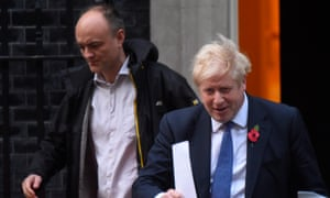 Dominic Cummings with Boris Johnson leaving 10 Downing Street.